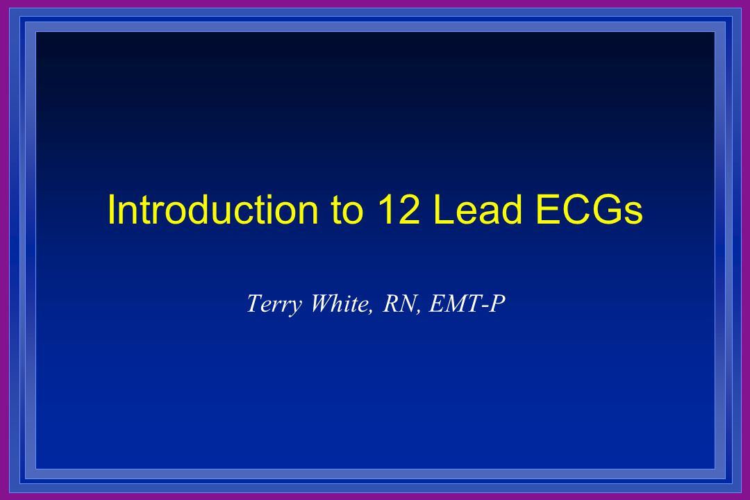 Introduction to 12 Lead ECGs