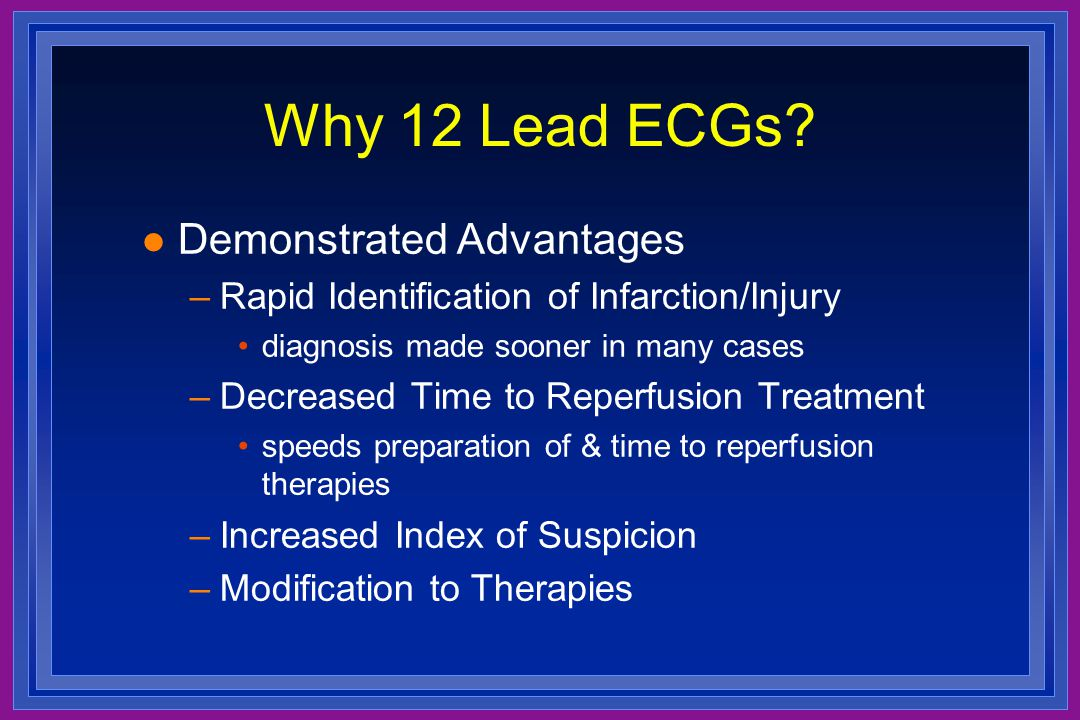 Why 12 Lead ECGs Demonstrated Advantages