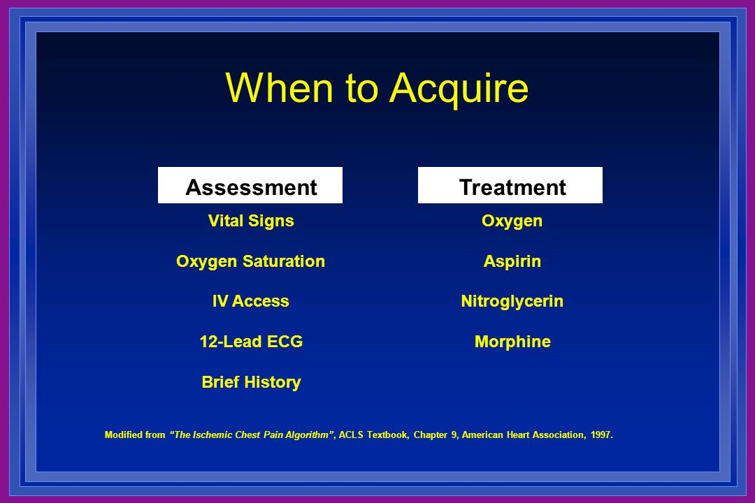 When to Acquire Assessment Treatment Vital Signs Oxygen Saturation