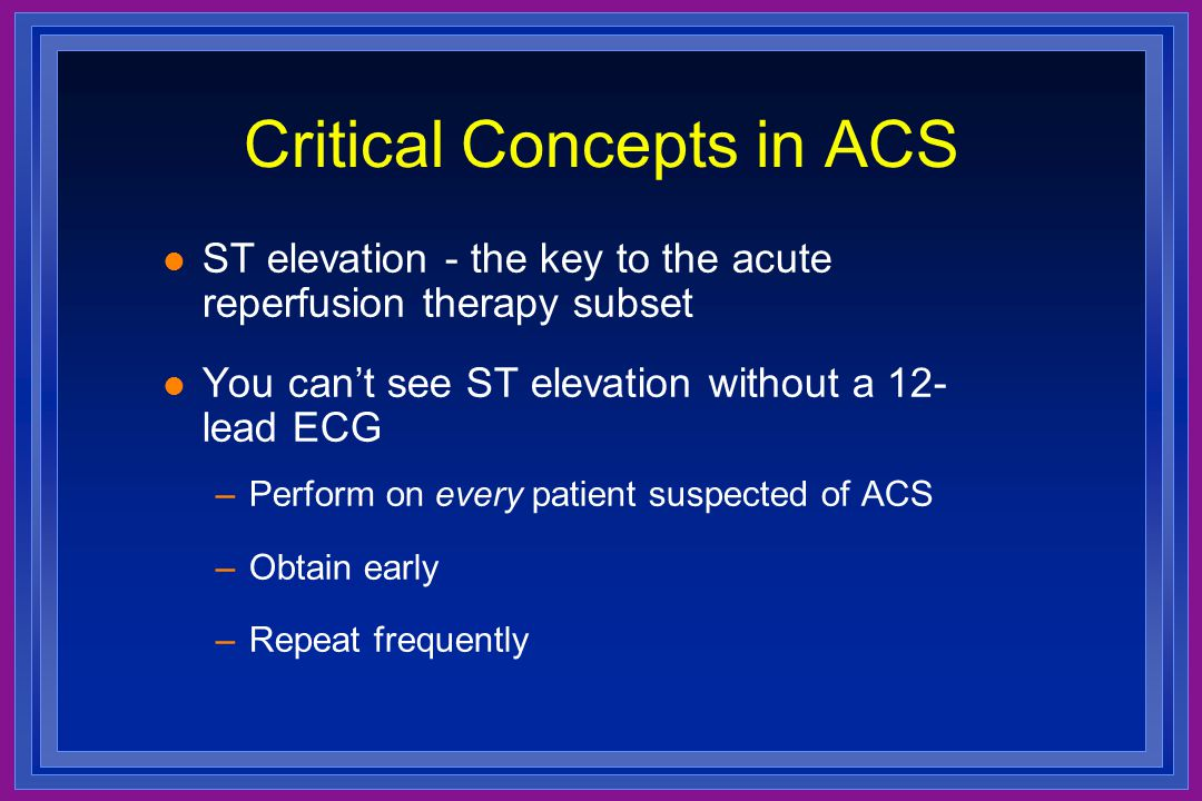 Critical Concepts in ACS