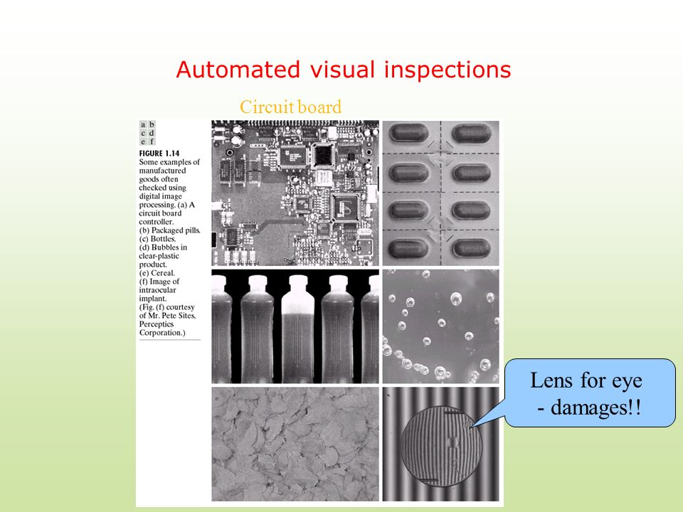 Automated visual inspections