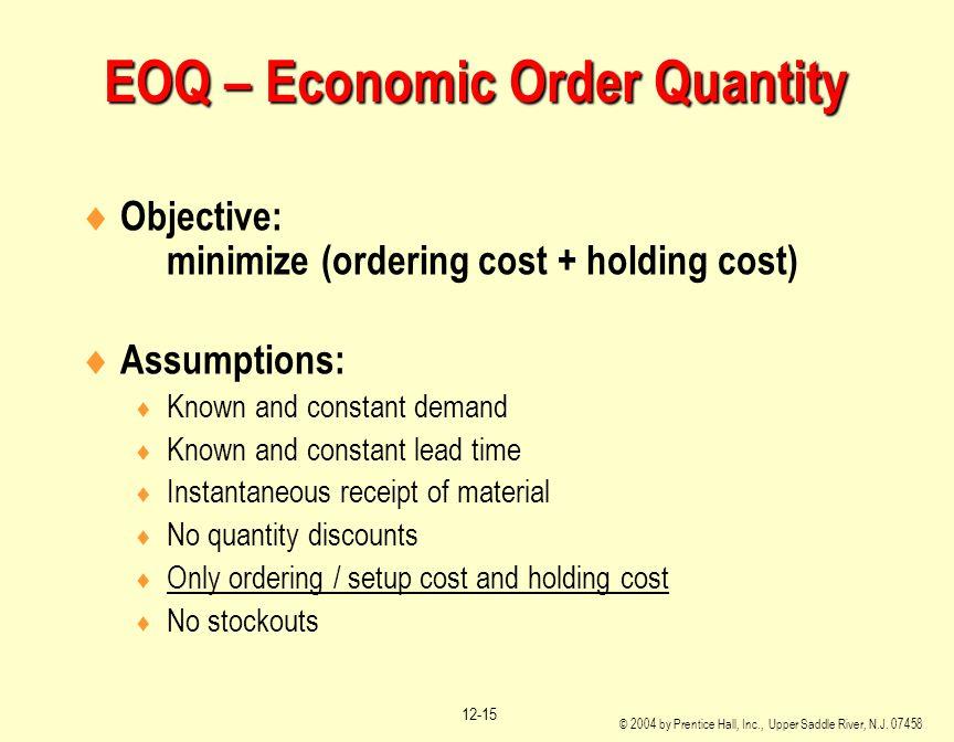EOQ – Economic Order Quantity
