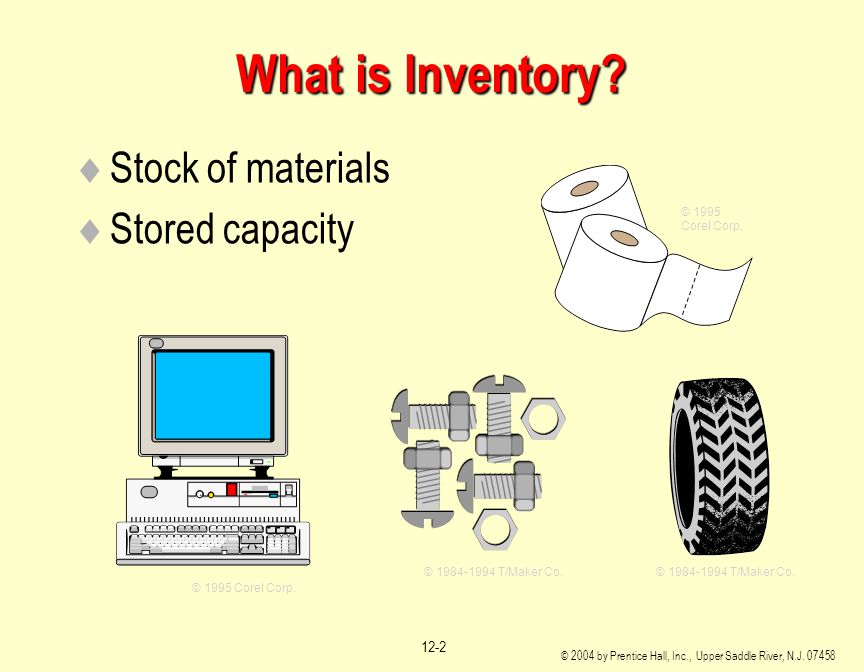 What is Inventory Stock of materials Stored capacity