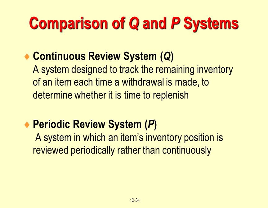 Comparison of Q and P Systems