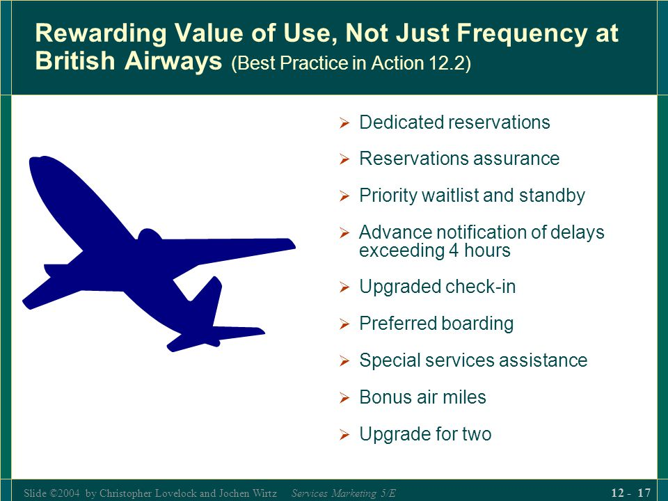 Rewarding Value of Use, Not Just Frequency at British Airways (Best Practice in Action 12.2)