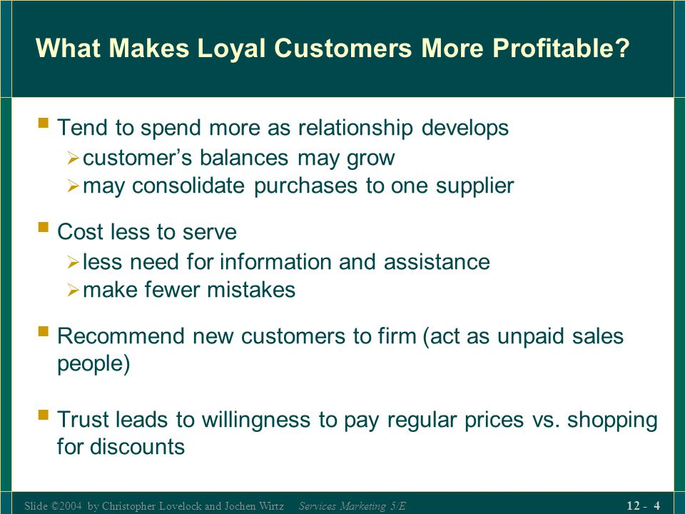 What Makes Loyal Customers More Profitable