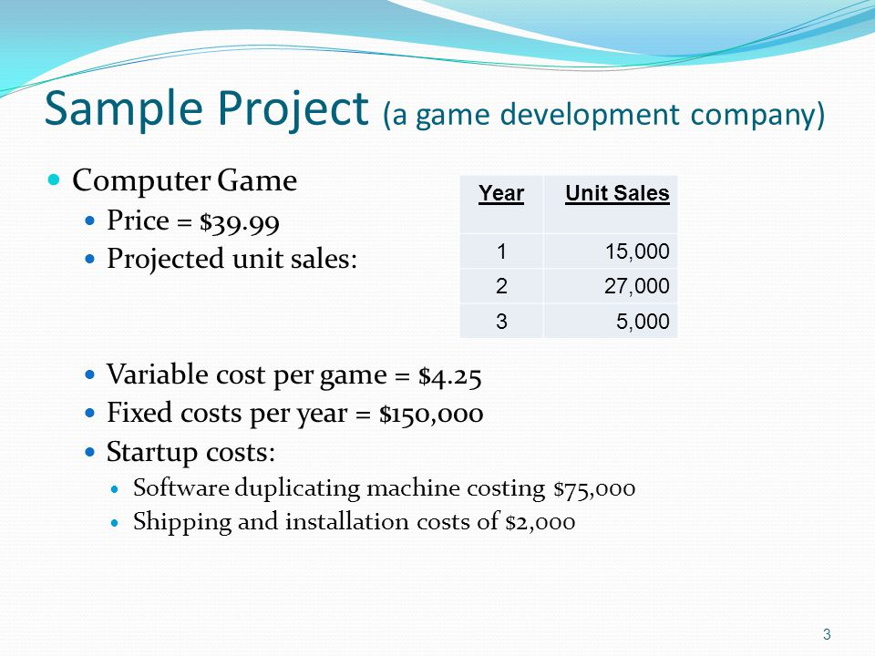 Sample Project (a game development company)