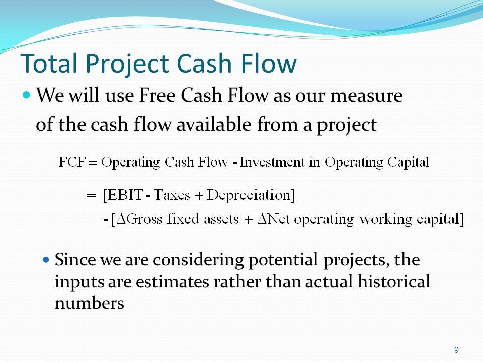 Total Project Cash Flow