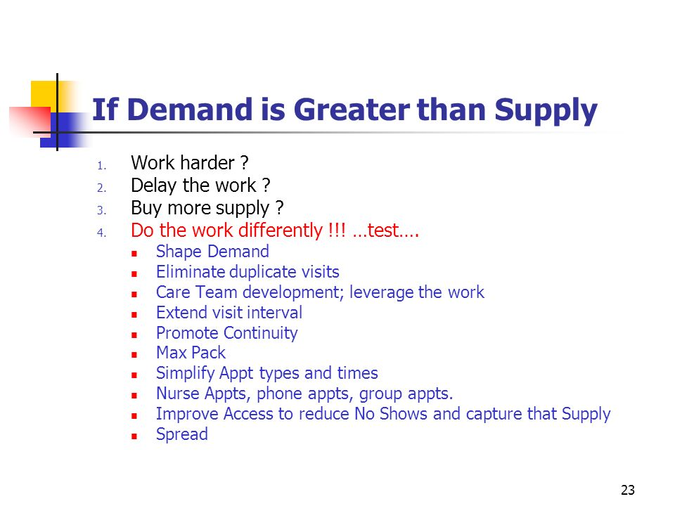 If Demand is Greater than Supply