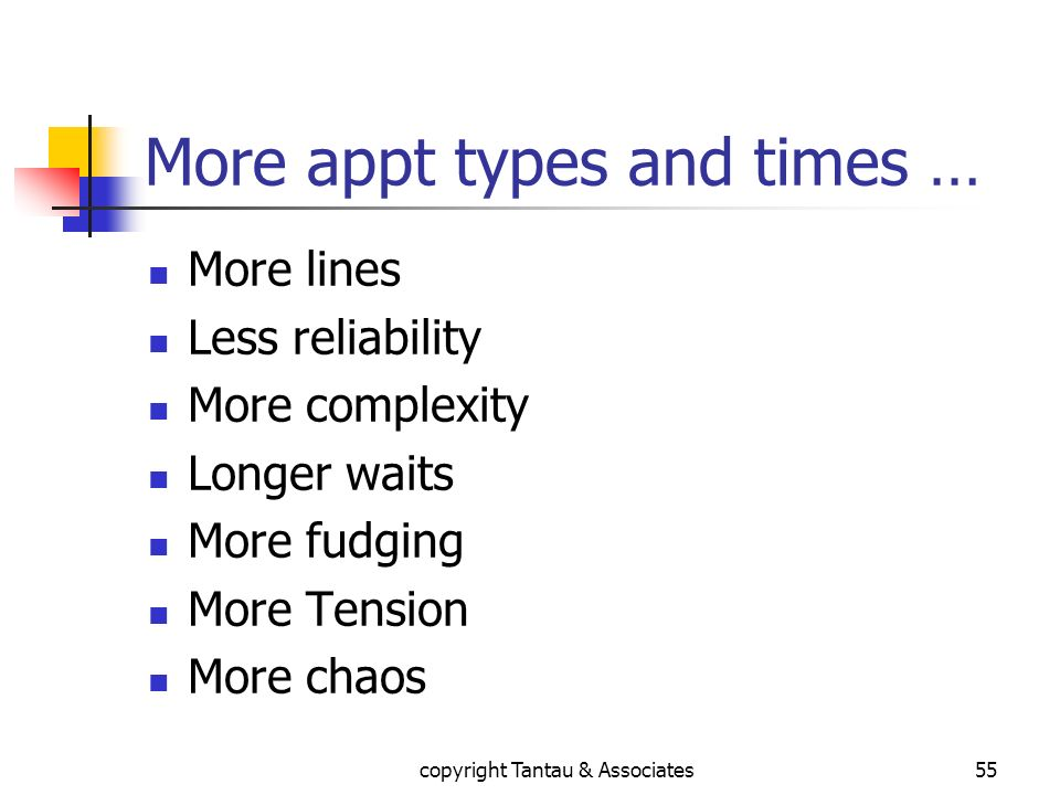 More appt types and times …