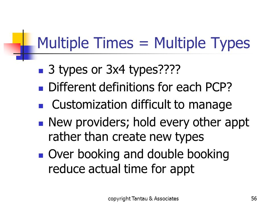 Multiple Times = Multiple Types