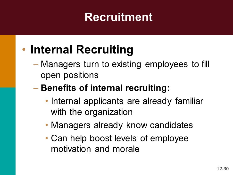 Recruitment Internal Recruiting