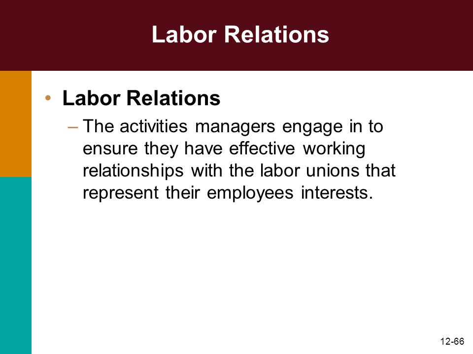 Labor Relations Labor Relations