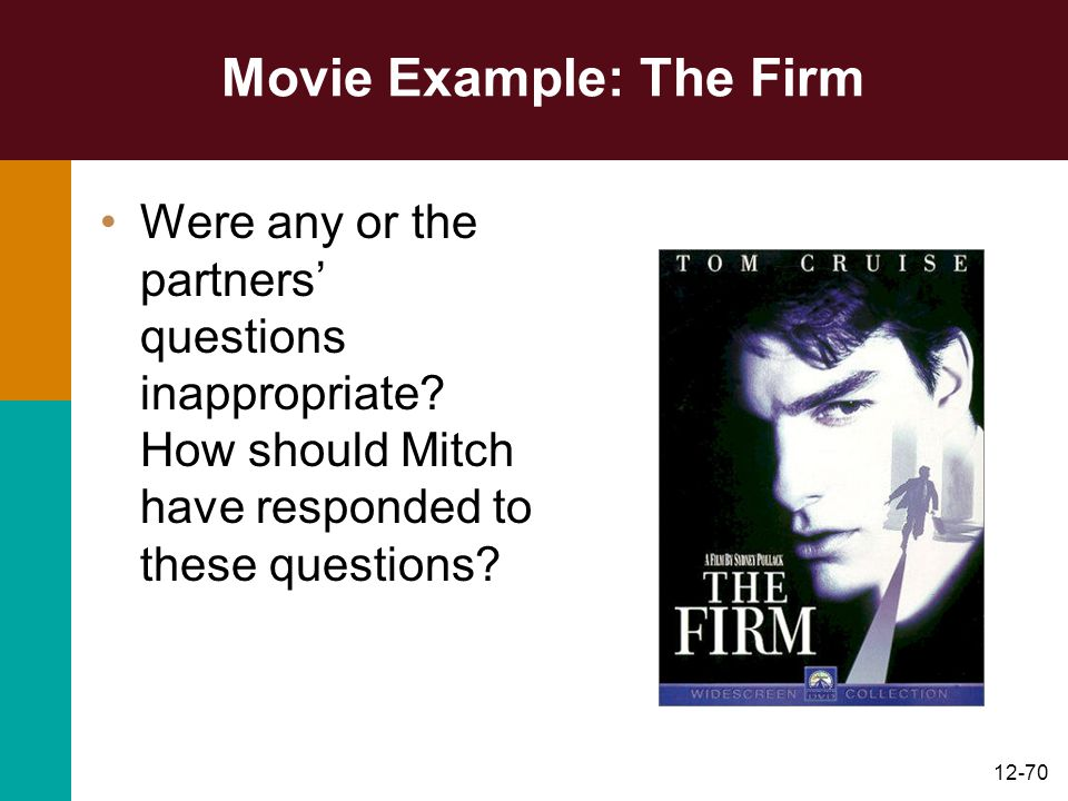 Movie Example: The Firm