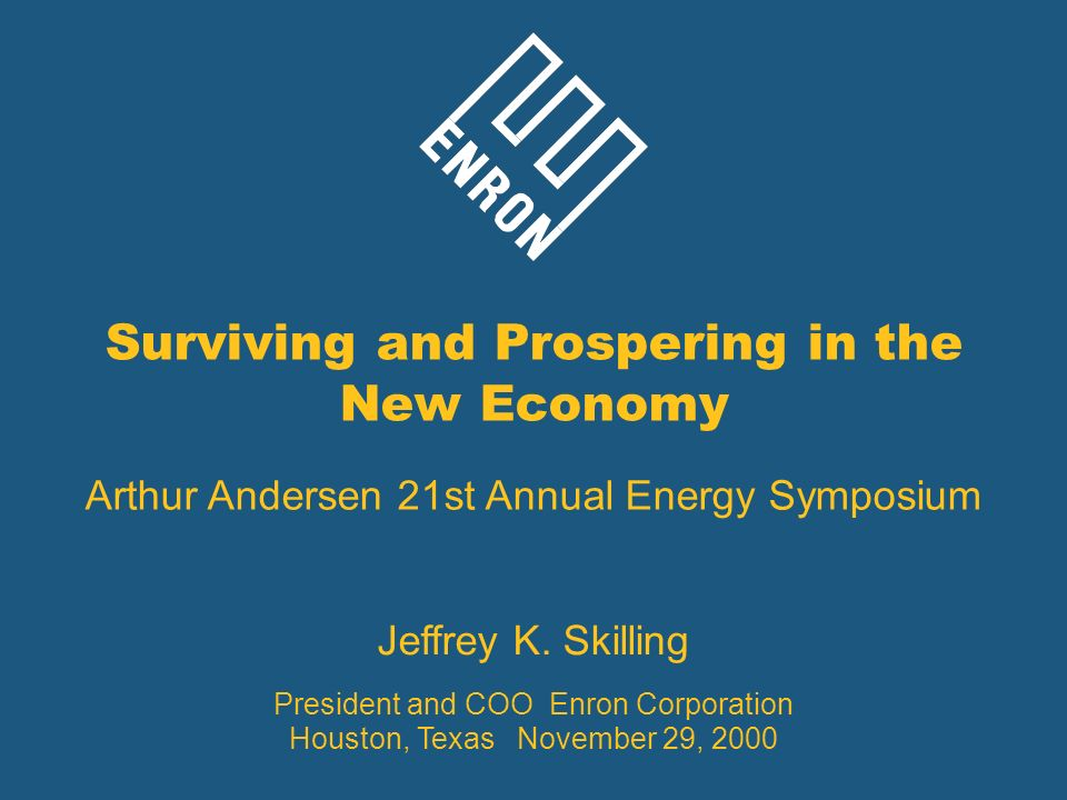Surviving and Prospering in the New Economy