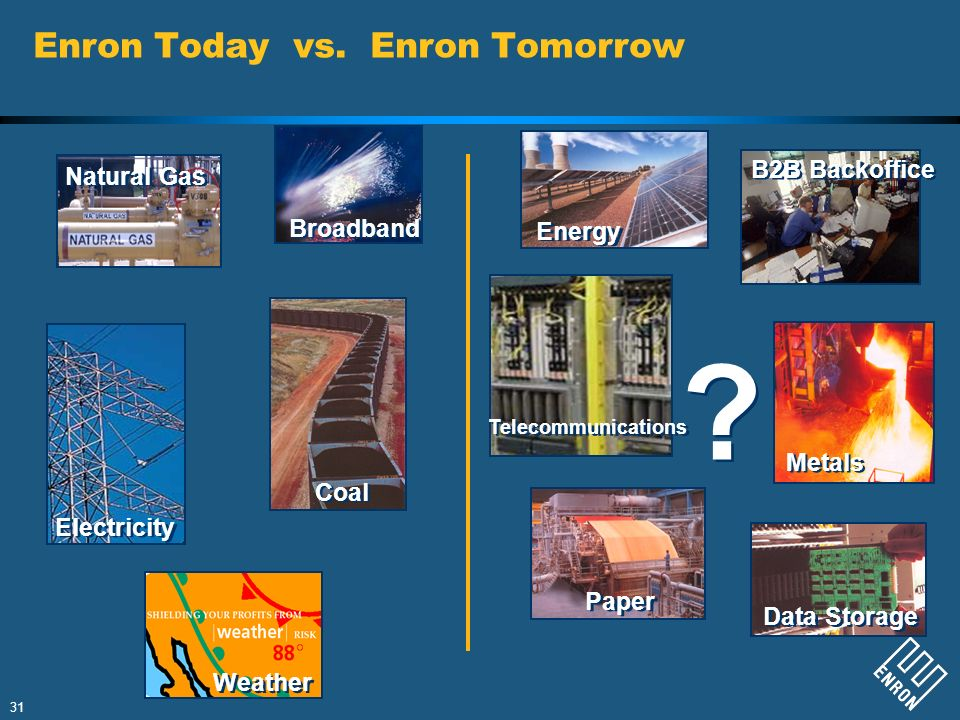 Enron Today vs. Enron Tomorrow