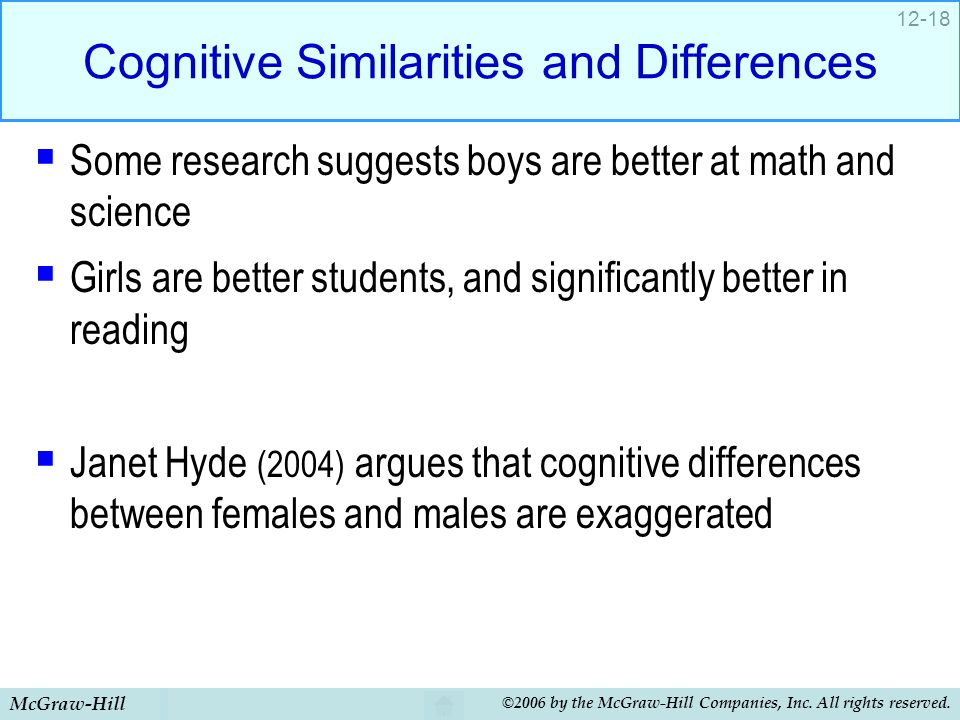 Cognitive Similarities and Differences