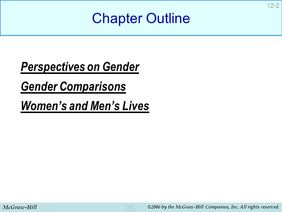 Chapter Outline Perspectives on Gender Gender Comparisons