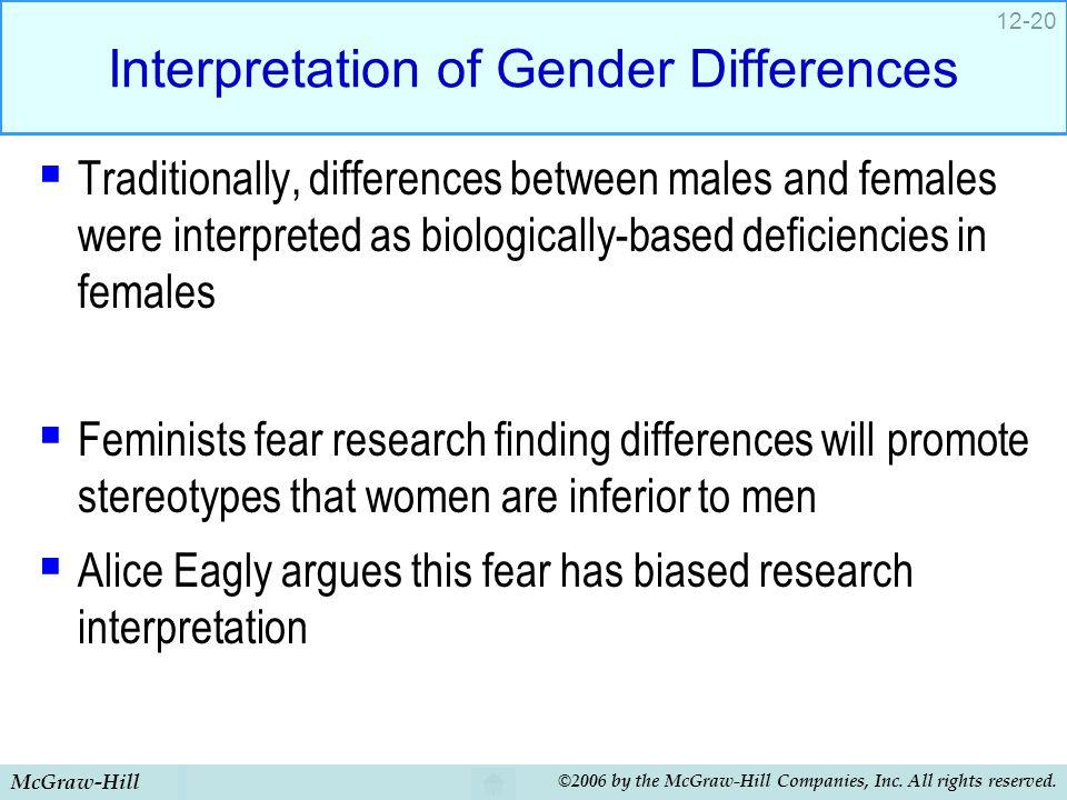 Interpretation of Gender Differences