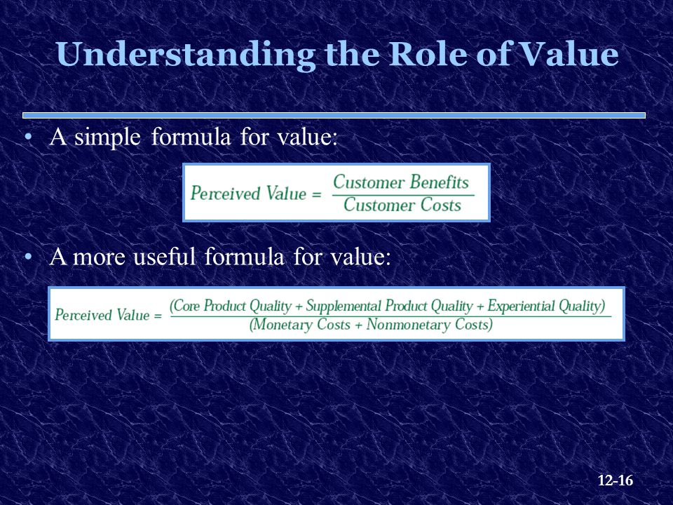 Understanding the Role of Value