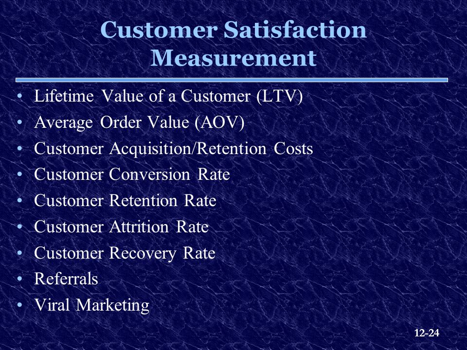 Customer Satisfaction Measurement