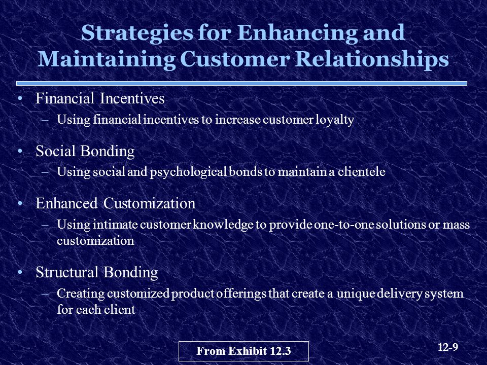 Strategies for Enhancing and Maintaining Customer Relationships