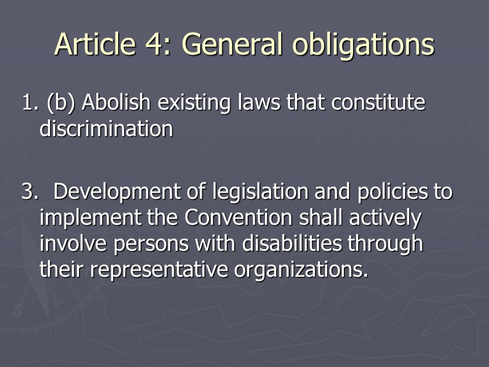Article 4: General obligations