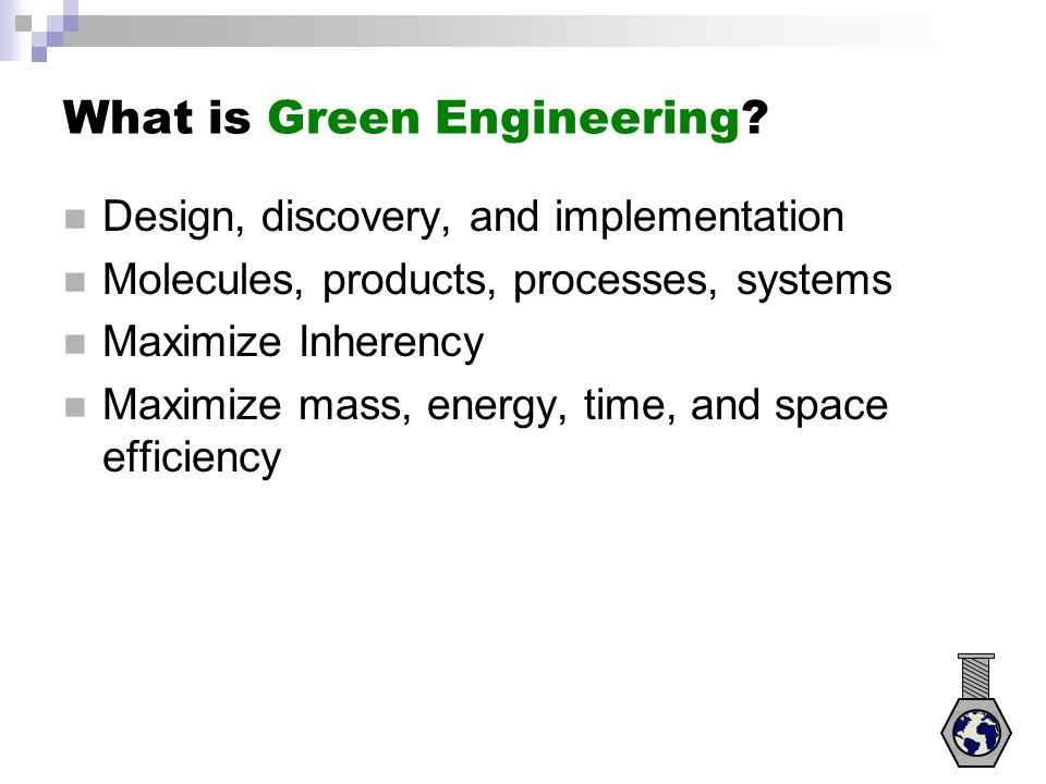 What is Green Engineering