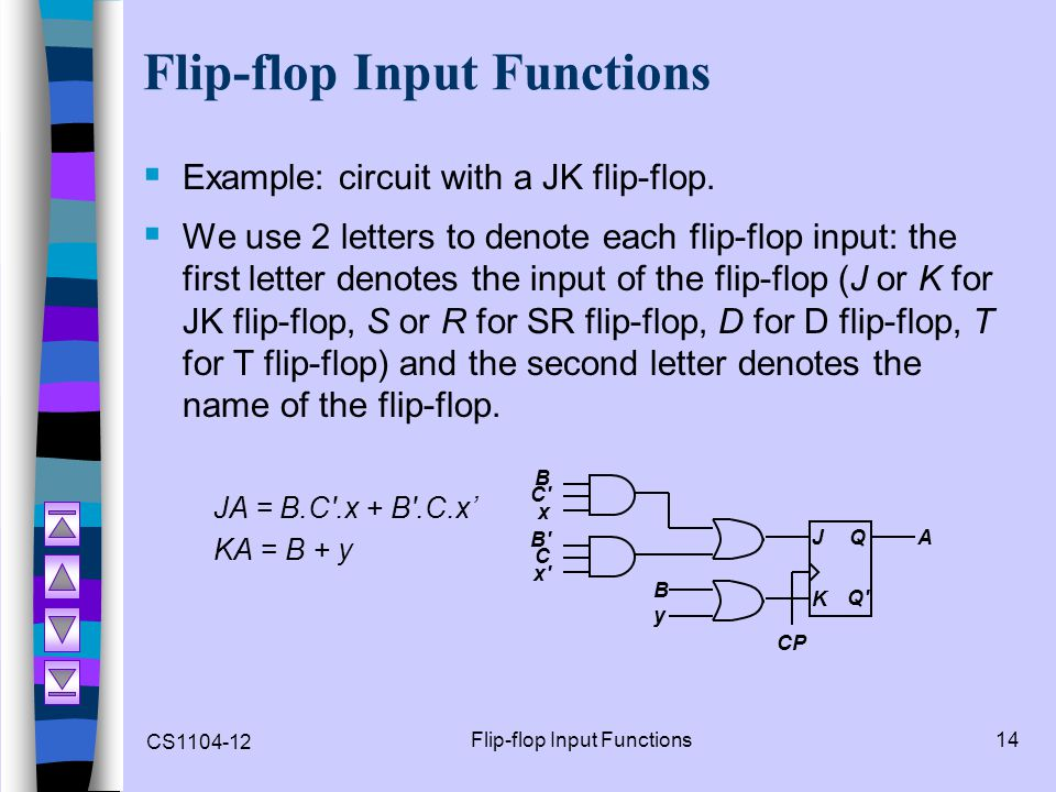 Flip-flop Input Functions