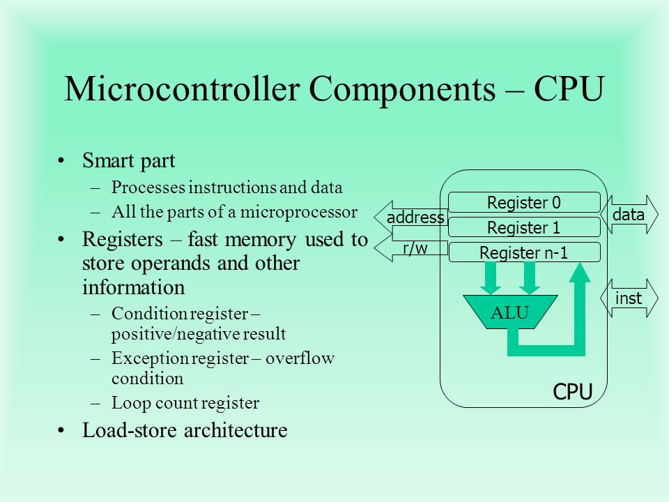 Microcontroller Components – CPU