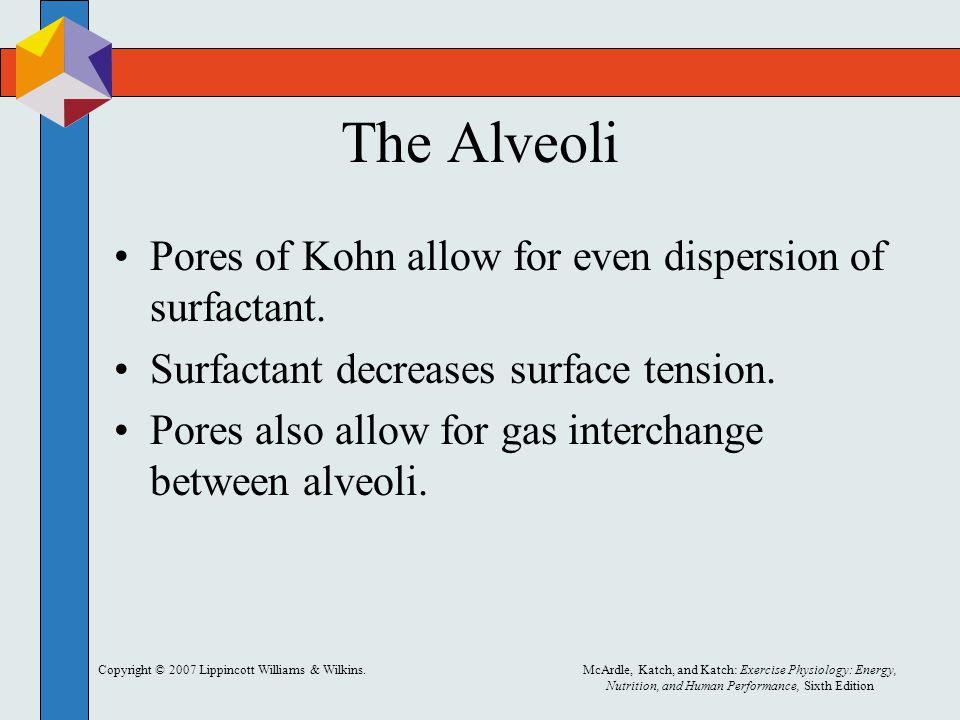 The Alveoli Pores of Kohn allow for even dispersion of surfactant.