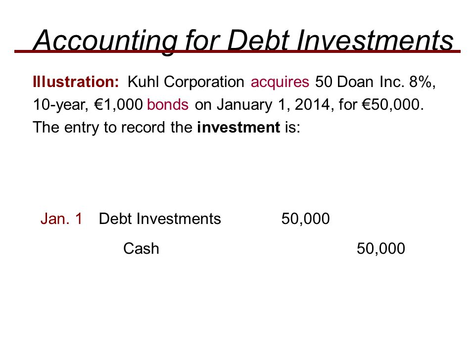 Accounting for Debt Investments