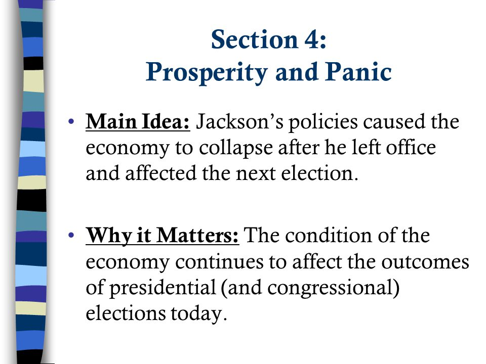 Section 4: Prosperity and Panic