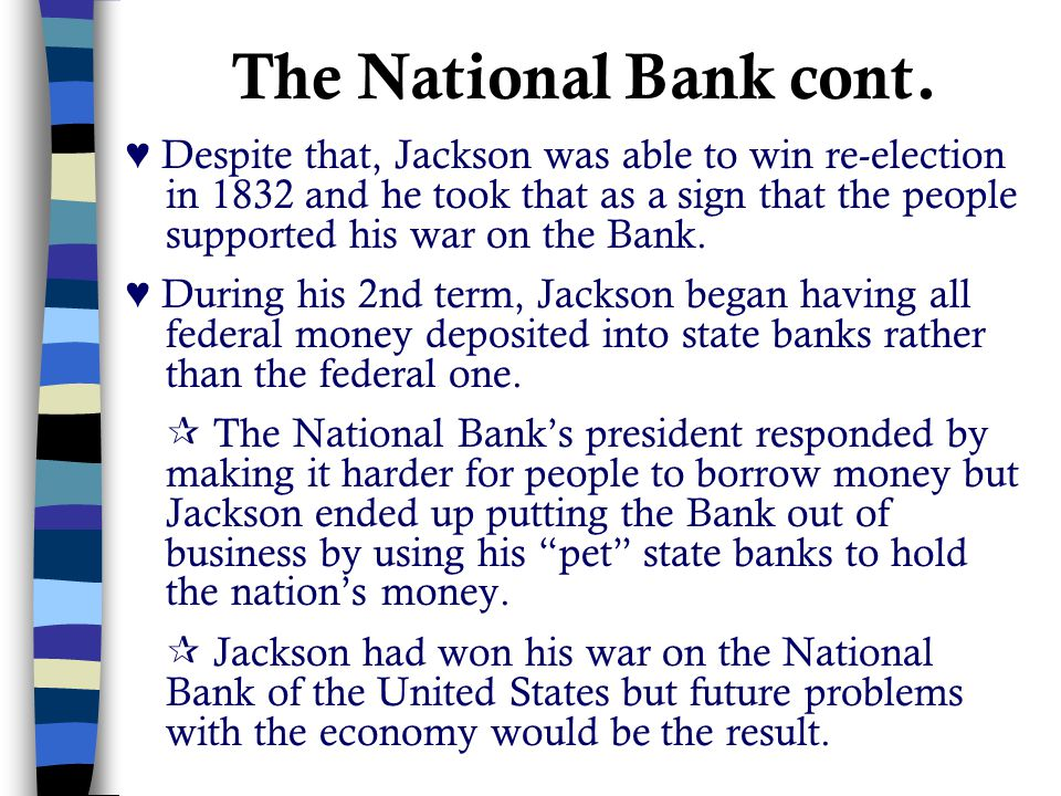 The National Bank cont.