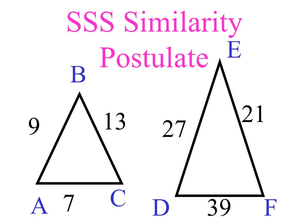 SSS Similarity Postulate