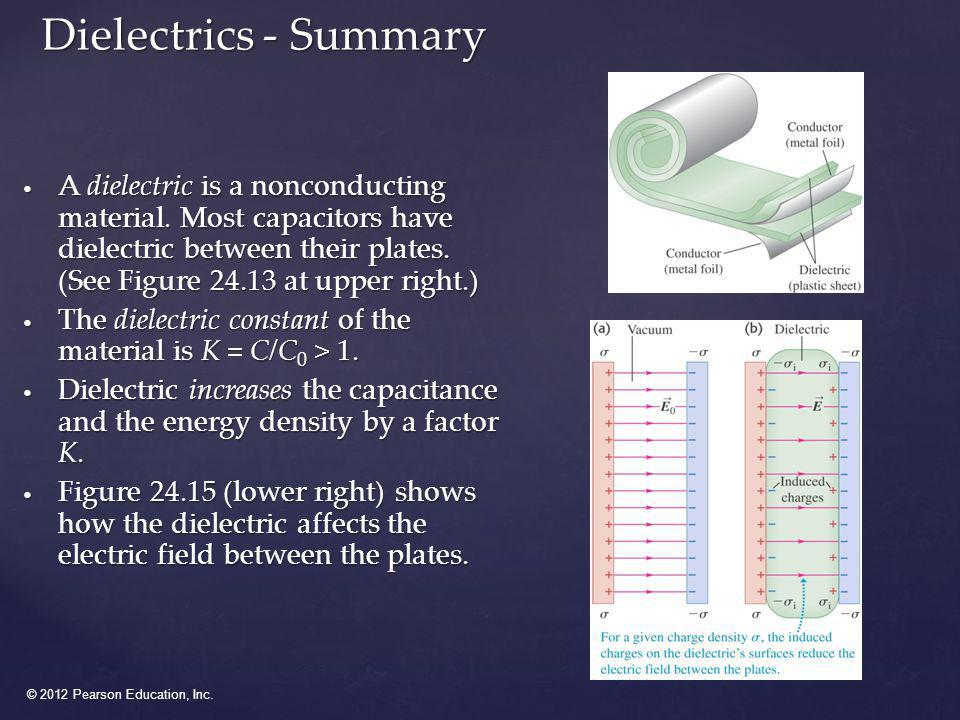 Dielectrics - Summary