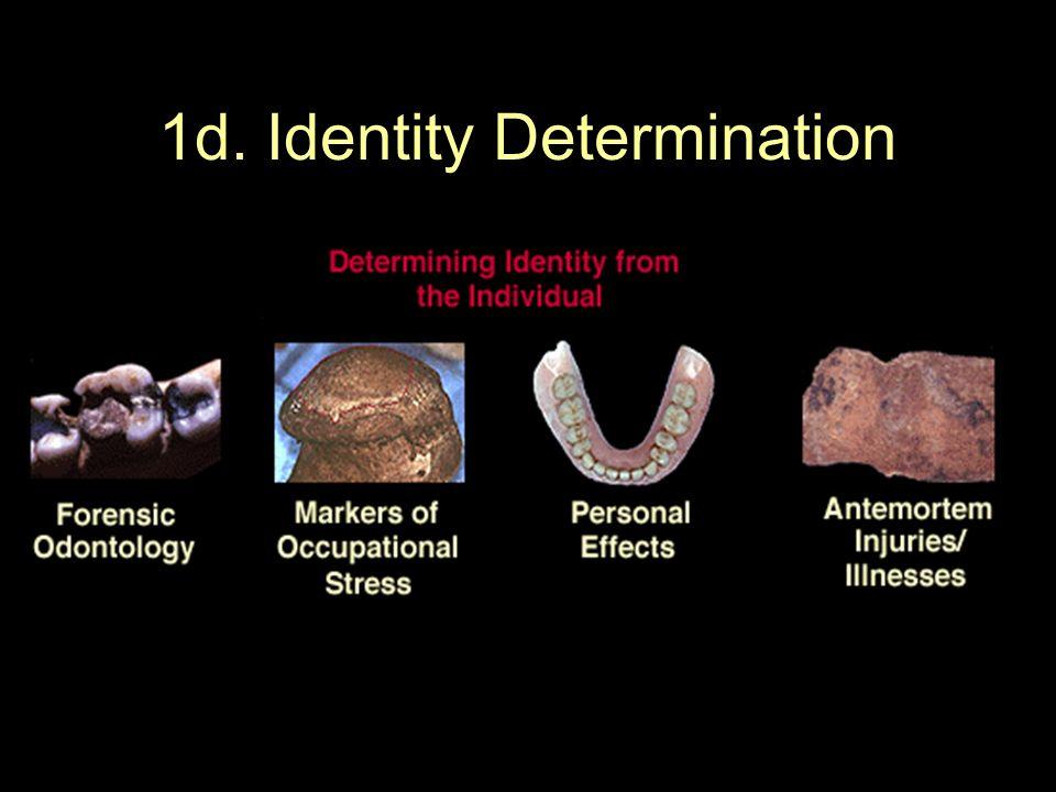 1d. Identity Determination