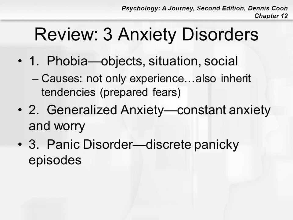 Review: 3 Anxiety Disorders