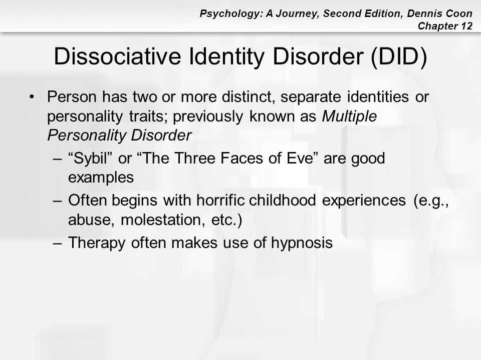 Dissociative disorders Essay Sample