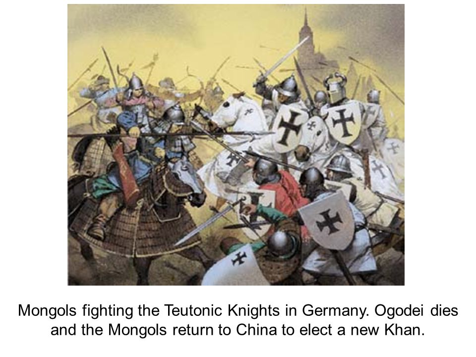 Mongols fighting the Teutonic Knights in Germany