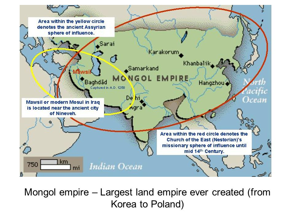Mongol empire – Largest land empire ever created (from Korea to Poland)