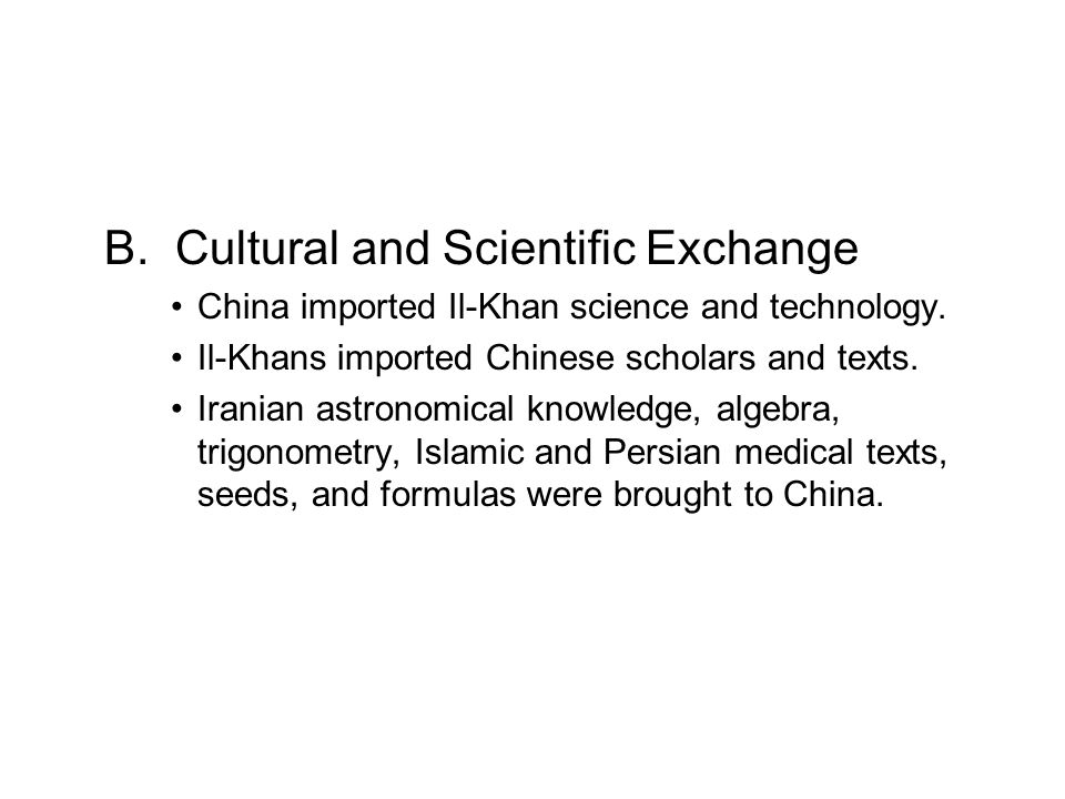 B. Cultural and Scientific Exchange