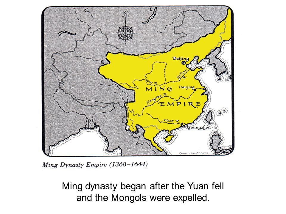 Ming dynasty began after the Yuan fell and the Mongols were expelled.