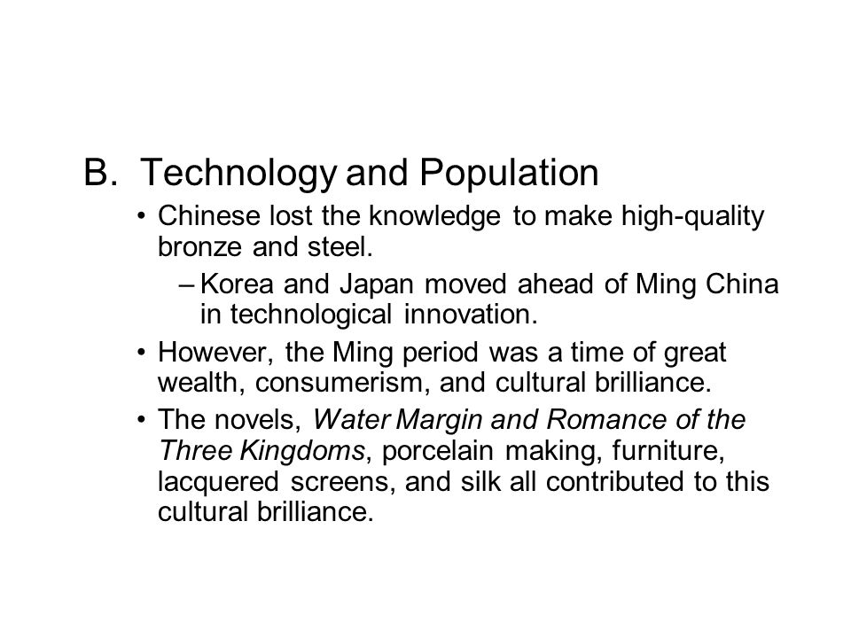 B. Technology and Population