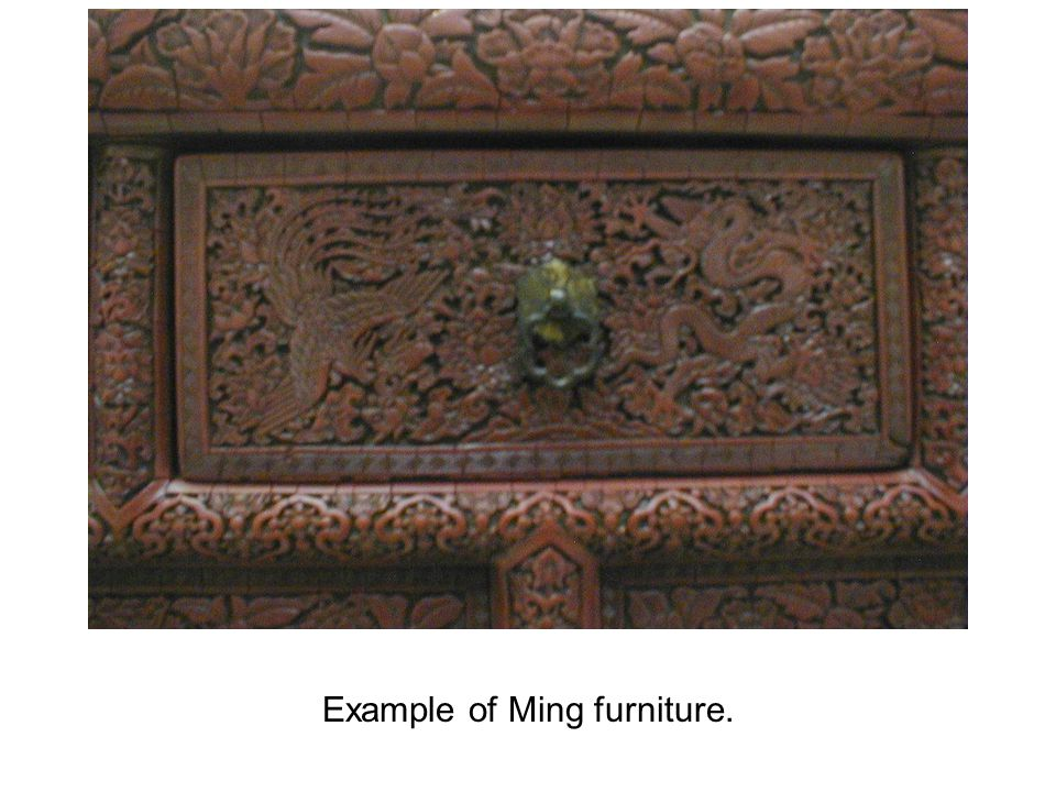 Example of Ming furniture.