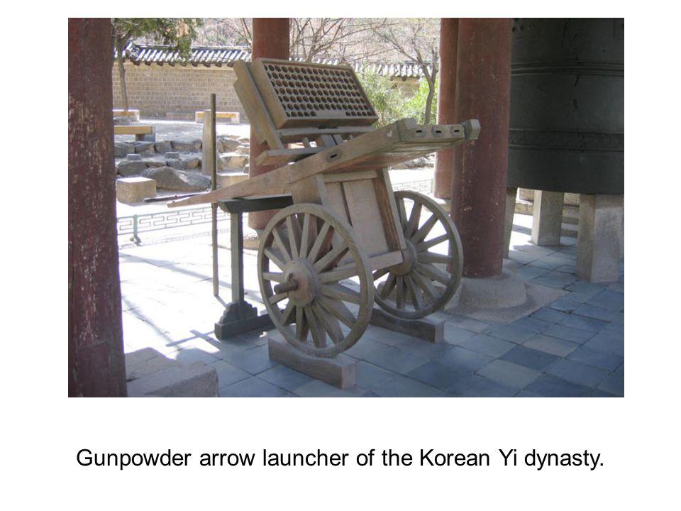 Gunpowder arrow launcher of the Korean Yi dynasty.