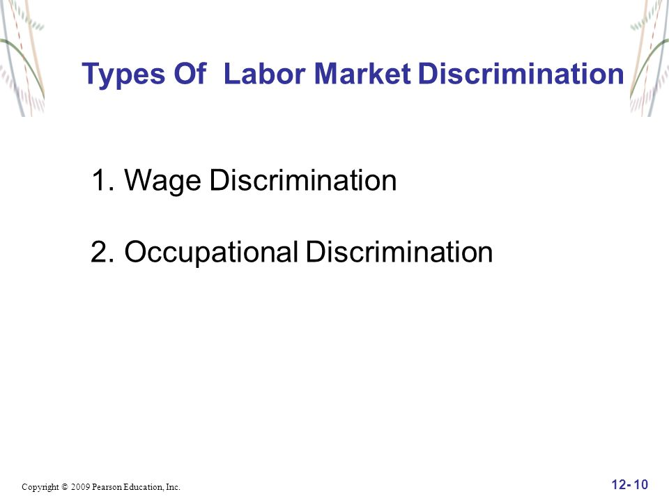 Types Of Labor Market Discrimination