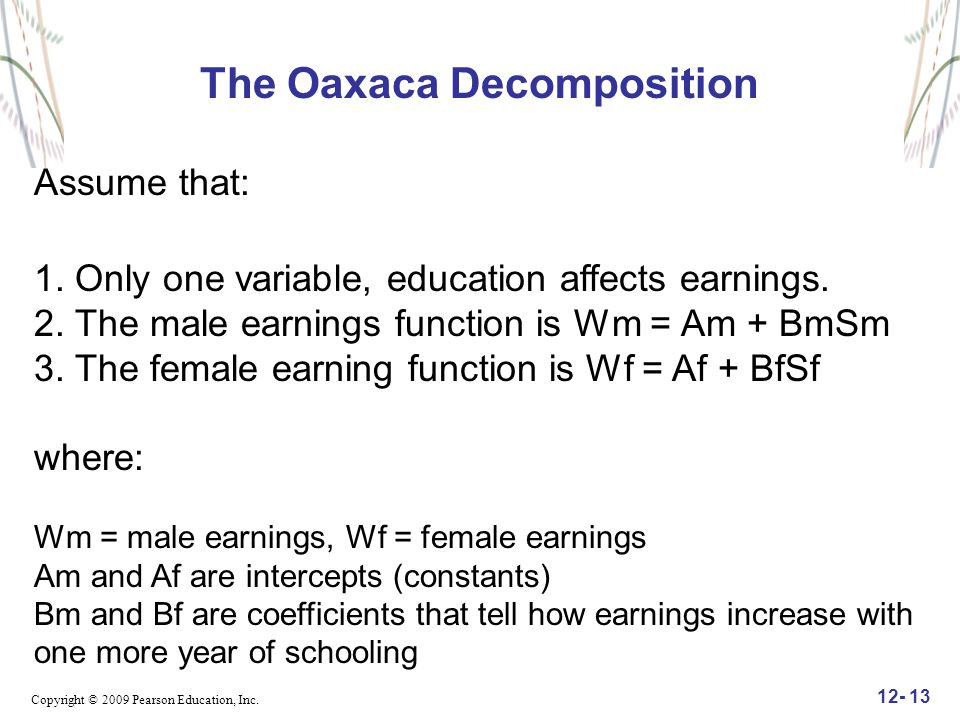 The Oaxaca Decomposition