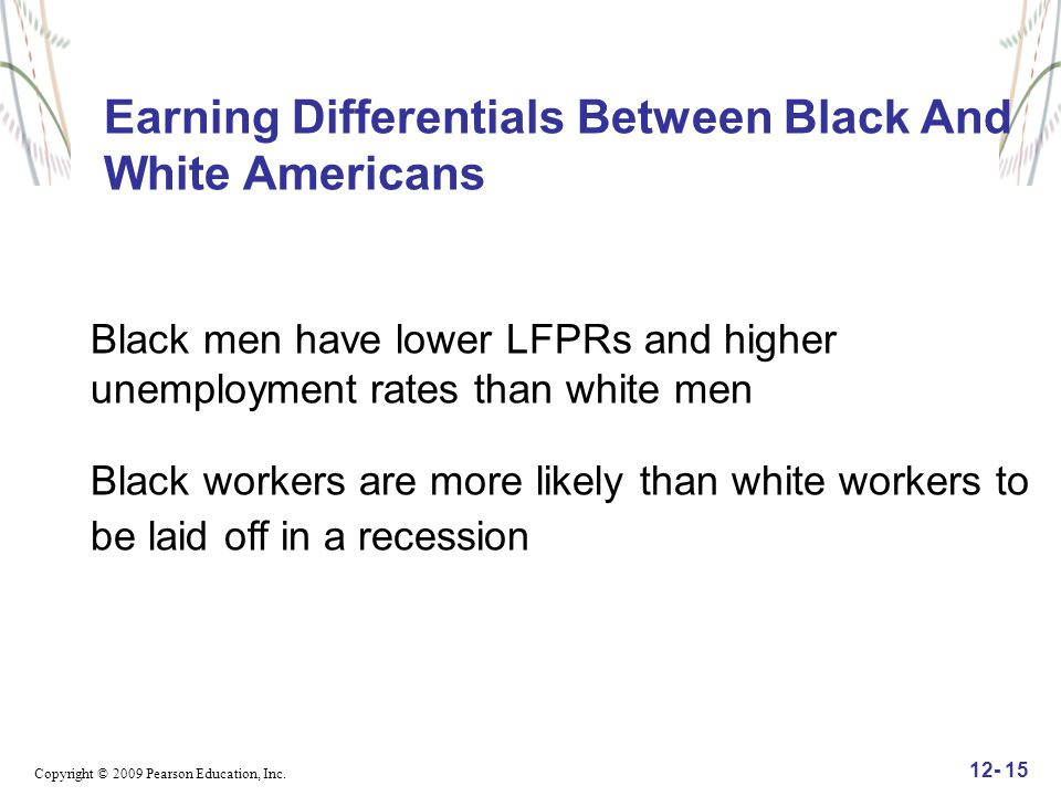 Earning Differentials Between Black And White Americans