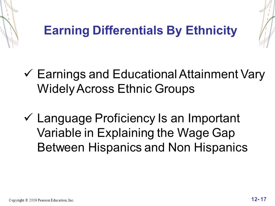 Earning Differentials By Ethnicity